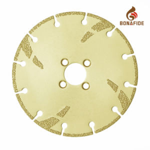 Customized Vacuum Brazed Diamond Cutting Saw Blade with Reinforced & 4 Pin Flange Hole pictures & photos