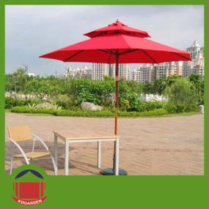 Wooden Beach Umbrella with Top pictures & photos