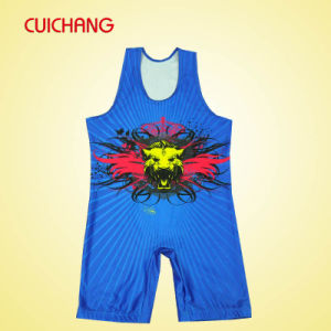 2014~15 Season High Quality Custom Wrestling Singlets pictures & photos