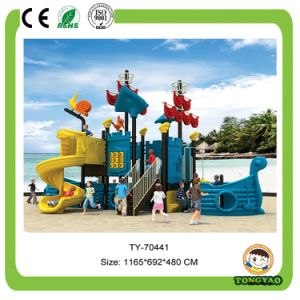2017 Hot Sale Outdoor Playground Plastic Slide (TY-70441) pictures & photos