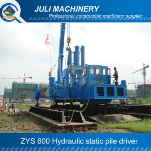 Zys600 Hydraulic Pile Driver, 600 Ton Hydraulic Static Pile Driver, Piling Driving Machine