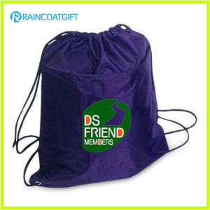 Eco-Friendly Folding Reusable Nylon Drawstring Bag Drawstring Backpack pictures & photos