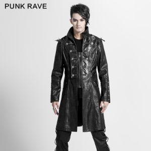 Wholesale Fashion Extra Men Long Black Coat Models (Y-366) pictures & photos