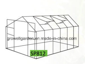 8′x12′ Garden Greenhouse with Alu. Frame and Polycarbonate (SP812) pictures & photos