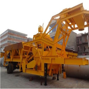 Hot Sale Mobile Concrete Batching Plant (YHZS 75) pictures & photos