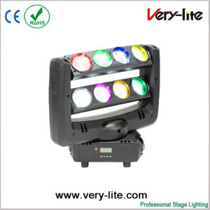 RGBW 4in1 8*10W Spider LED Moving Head Stage Lighting
