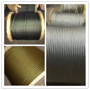 Elec. Galvanized Steel Wire Rope with Yellow Grease pictures & photos