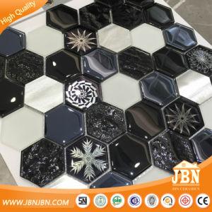 European Hexagon Glass Aluminum Stone Mosaic Tile (M855408) pictures & photos