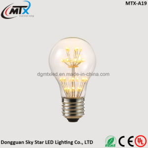 UL Holiday A60 Warm Glow Firework LED Night Light Bulb pictures & photos
