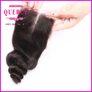 Loose Wave Natural Color Size 3.5X4 Virgin Brazilian Hair Closures pictures & photos