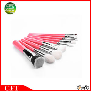 Free Sample 9PCS Goat Hair Wood Handle Travel Makeup Brushes pictures & photos