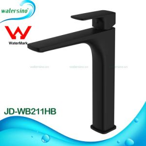 Brass Matte Black Square Basin Taps with Watermark Approval pictures & photos