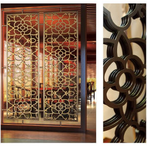 Modern Laser Cut Decorative Stainless Steel Room Divider Screen pictures & photos