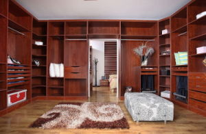Open Style Solid L Type Walk in Closet Wardrobe pictures & photos