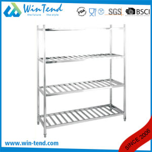 Stainless Steel Robust Construction Warehouse Industrial Round Tube Easy Assemble 4 Tier Storage Racks pictures & photos