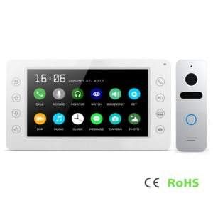 Home Security Interphone 7 Inches Intercom Video Doorphone with Memory pictures & photos