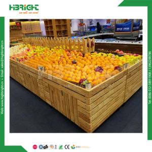 Wooden Fruits and Vegetables Display Rack for Stores and Supermarket pictures & photos