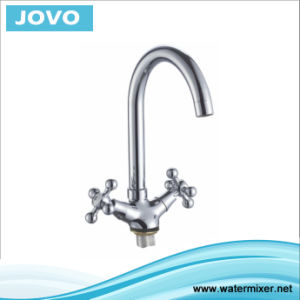 Sanitary Ware Nice Design Double Handle Kitchen Mixer&Faucet Jv74205 pictures & photos