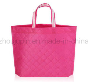 OEM Non Woven Fashion Colorful Plaid Shopping Hand Bag pictures & photos