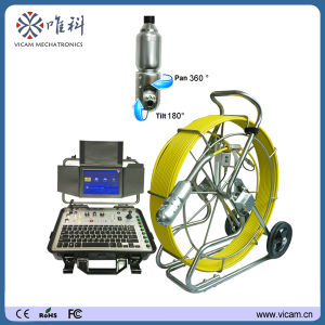 Pan and Tilt Video Pipe Inspection Camera Chimeny Camera with 60m Fiberglass Push Rod Cable pictures & photos