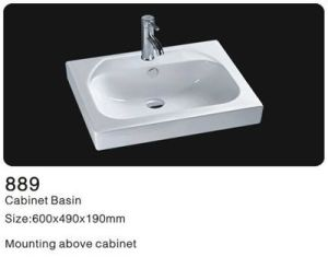 Above Counter Ceramic Washsinks, Bathroom Cabinet Wash Basin pictures & photos