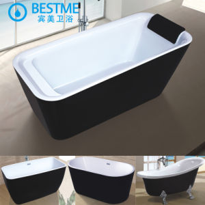 Black Color Good Quality Acrylic Art Bathtub (6006) pictures & photos