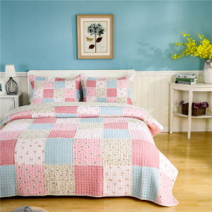 Wholesale Poly Cotton Queen Patchwork Quilt for Home pictures & photos