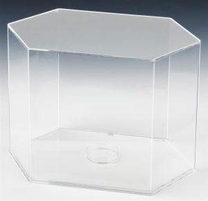 Clear Acrylic Ports Display Case with Base for Footballs pictures & photos
