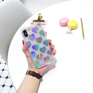 Colorfull Cover Laser Love Rainbow TPU Case for Iphones/7/7plus/X pictures & photos