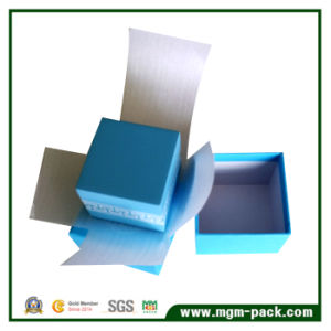 Luxury Blue Custom Paper Wrapping Plastic Watch Box pictures & photos