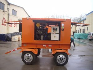 Four Wheels 50kw Low Noise Diesel Generator Set for Thailand Customer pictures & photos