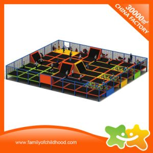 Children Amusement Fitness Trampoline Equipment Trampoline Park with Net pictures & photos