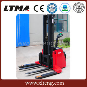 Ltma New Design 1.5-1.8t Electric Forklift Stacker with Wide Legs pictures & photos