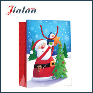 Wholesale 4c Printed Christmas Stocking Packing Shopping Gift Paper Bag pictures & photos