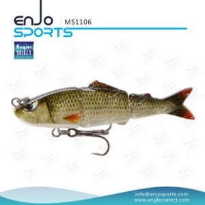 Multi Jointed Life-Like 3 Section Hard Fishing Lures Salt & Fresh Water Fishing Bait Fishing Lure (MS1106) pictures & photos