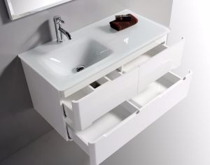Four Drawers PVC Bathroom Cabinet with Left/ Right Basin pictures & photos