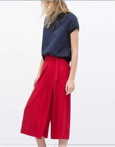 OEM Autumn Casual High Waist Loose Women Chiffon Trousers pictures & photos
