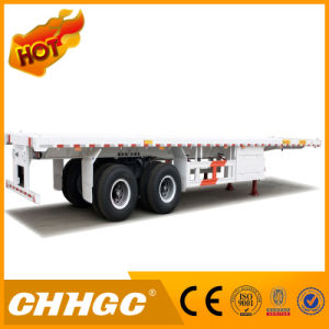 2axle Flatbed Container Semi Trailer pictures & photos