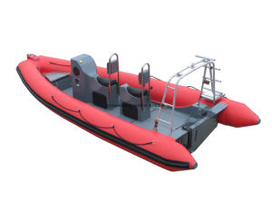 China Aqualand 19feet 5.8m Rigid Inflatable Motor Boat /Fiberglass/Rib Patrol Boat (rib580t) pictures & photos