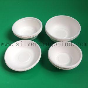 Custom Size Compostable Sugarcane Pulp Paper Disposable Bowl pictures & photos