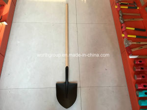 Long Wood Handle Point Shovel pictures & photos