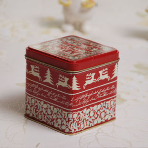 Square Christmas Cookie and Candy Tins pictures & photos