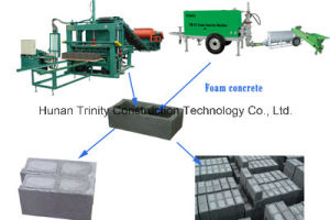Foam Concrete Filled in Hollow Brick Equipment