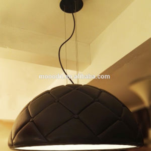 Luxury Handmade Decorative Pattern Black Leather Resin Hemisphere Hanging Garden Pendant Light pictures & photos