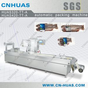 Automatic Thermoforming Vacuum Skin Packaging Machine for Fish pictures & photos