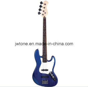 White Pickguard Blue Color Jazz Bass Guitar pictures & photos