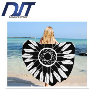 Wholesale Qualified Printed Round Beach Towel with High Quality pictures & photos