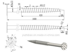 Chinese Manufacturer of HDG Ground Screw for Solar Mounting System pictures & photos