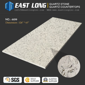 White Marble Color Artificial Quartz Stone Slabs for Countertop/Engineered/Building Material with Solid Surface (SGS/ce) pictures & photos