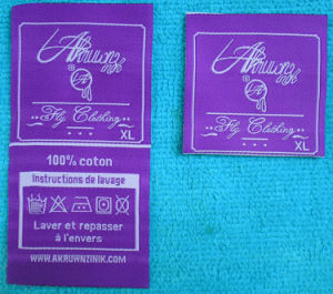 Purple Fashion Design Custom Garment Care Label pictures & photos